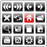 Icons. Browser raster icons. Vector version is available in my portfolio Royalty Free Stock Photos