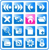 Icons. Browser raster icons. Vector version is available in my portfolio Royalty Free Stock Images