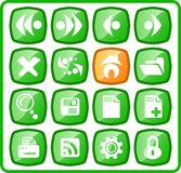 Icons. Browser raster icons. Vector version is available in my portfolio Stock Image