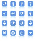 Icons. Miscellaneous signs raster iconset. Vector version is available in my portfolio Stock Photos