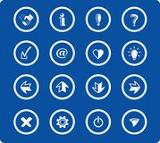 Icons. Miscellaneous signs raster iconset. Vector version is available in my portfolio Royalty Free Stock Image