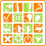 Icons. Miscellaneous signs raster iconset. Vector version is available in my portfolio Stock Photo
