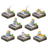 Icons. Set of  icons isometric to the city theme Royalty Free Stock Photo
