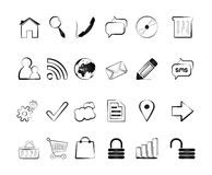 Icons. Outline Icons For Web and Mobile Stock Photo