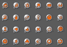 Icons 3 Royalty Free Stock Photography