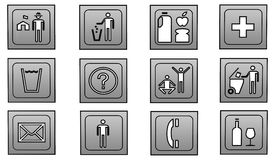 Icons. Different icons to choose from and usefulness Stock Images
