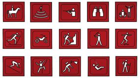 Icons. Different icons to choose from and usefulness Stock Photography