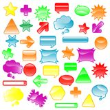 Icons_38b. Illustration of a set of icons Stock Image