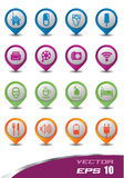 Icons 3d pastel color set. 
