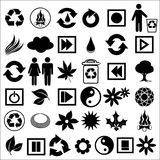 Icons_40b. Illustration of a set of ecological icons Stock Photography