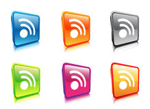 Icons. Illustration of set of wireless icons royalty free illustration