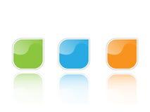 Icons. Green, orange and blue Icon set Royalty Free Stock Photo