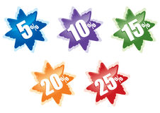 Icons of. Series of varicoloured vectorial icons of discount Royalty Free Stock Images
