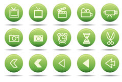 Icons. Web icons easy to resize or change color Stock Photos