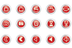 Icons. Web icons easy to resize or change color Royalty Free Stock Photo