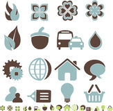 Icons. Set of 16 Icons in 2 colours Stock Images