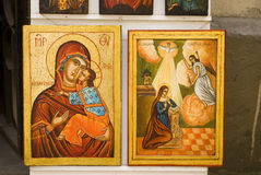 Icons. Christian icon paintings with saints Royalty Free Stock Image