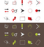 Icons. Web icons easy to resize or change color Royalty Free Stock Photos