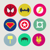 Icons, abstract, tweaked for superheroes and Stock Photo
