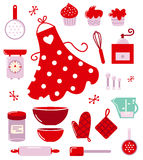 Icons or accessories for housewife Royalty Free Stock Photography