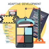 Icons for adaptive development Stock Image