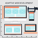 Icons for adaptive web development Stock Images