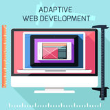 Icons for adaptive web development Royalty Free Stock Photo