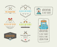 Icons for adventure in the style of flat Royalty Free Stock Photography