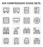 Icons. Air compressor icons sets on white background Royalty Free Stock Photo