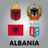 Icons of Albania Stock Image