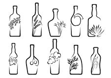 Icons alcoholic beverages Stock Images