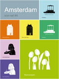 Icons of Amsterdam Stock Photography