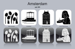 Icons of Amsterdam Royalty Free Stock Photos