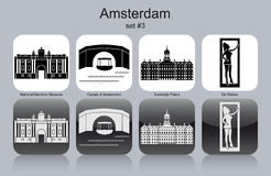 Icons of Amsterdam Stock Photos