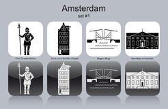 Icons of Amsterdam Stock Images