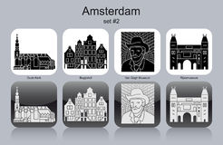 Icons of Amsterdam Royalty Free Stock Photo