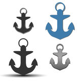 Icons anchor, vector illustration. Stock Photography