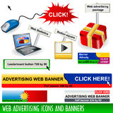 Icons And Banners Royalty Free Stock Photo
