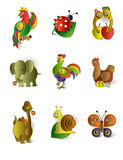Icons of animals Royalty Free Stock Image