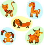 Icons of animals. Cute icons of animals. Vector illustration Stock Images