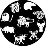 Icons of animals Royalty Free Stock Photography