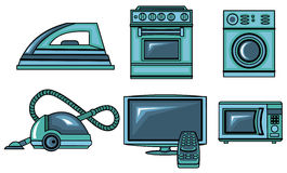 Icons of appliances Royalty Free Stock Images
