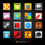 Icons and Applications Royalty Free Stock Images