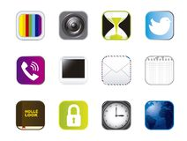 Icons of apps Stock Images