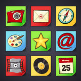 Icons for apps in cartoon style Royalty Free Stock Photography