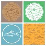 Icons aquarium Royalty Free Stock Image