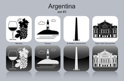 Icons of Argentina Royalty Free Stock Photo