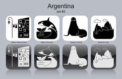 Icons of Argentina Stock Image