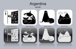 Icons of Argentina royalty free illustration