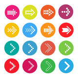 Icons Arrow colorful Royalty Free Stock Photography